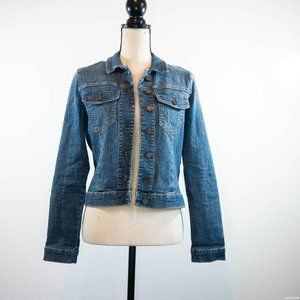 Kut from the Kloth Cropped Denim Jacket Size M